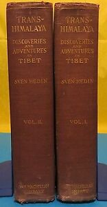 Sven-Hedin-TRANS-HIMALAYA-Discoveries-and-Advnetures-in-Tibet-1st-Edition-1909