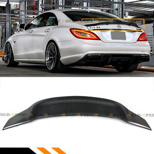 FOR 12-17 MERCEDES W218 CLS63 CLS500 CLS550 RT STYLE CARBON FIBER TRUNK SPOILER