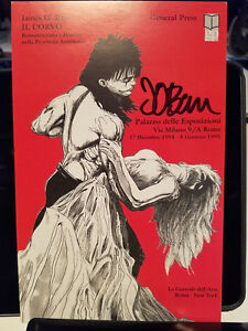 THE CROW JAMES O'BARR SIGNED IL CORVO ITALY SHOW CARD GOTH DRAVEN VINTAGE DANCE