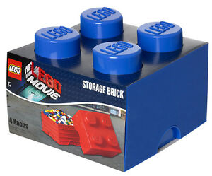LEGO The Movie Storage Brick XL 4 BLAU Stein Aufbewahrung Dose Box Kiste BLUE