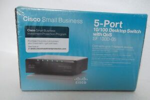 Cisco-SD205T-5-Port-Ethernet-Network-Switch-10-100-QoS-100Base-TX-SF-100D-05-NEW