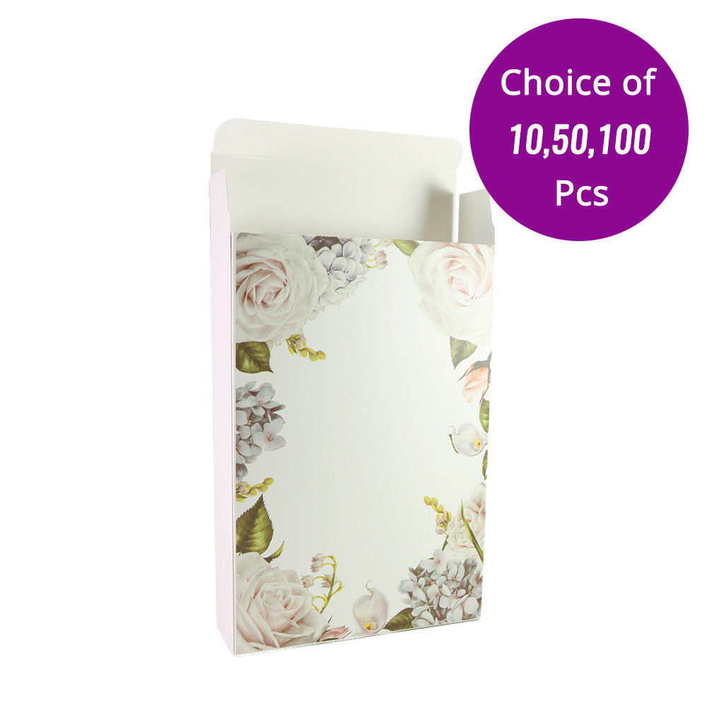 5x7.5in Matte Weiß w  Printing Paper Boxes For Facial Mask (H 1.5in) M05