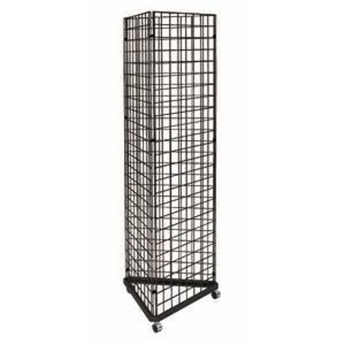 New Black 3-Sided Gridwall Rack + (60) 4 hooks