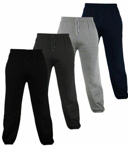 5XL Homme Survêtement Pantalon De Jogging Pantalons Gym Uni Poches Zippées Taille S