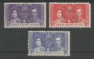 BRITISH-SOLOMON-ISLANDS-THE-1937-GVI-CORONATION-SET-PERFORATED-SPECIMEN-CAT-120