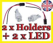2x 12mm RUBBER BULB HOLDER SOCKET 12v LED T10 W5W 501 CARs GAUGE BIKE SIDE LIGHT