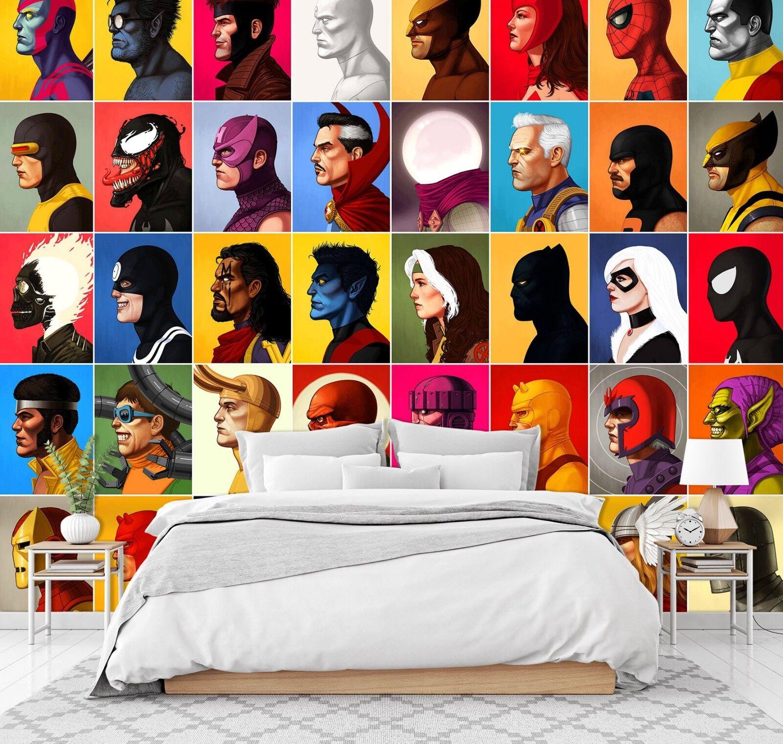3D Face People 225 Wallpaper Mural Wallpaper UK Jenny