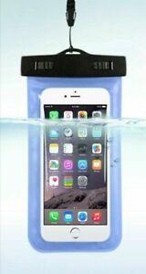 "Cover Custodia Impermeabile Smartphone porta Cellulare 5,5"" Sabbia ,Piscina, SUB"