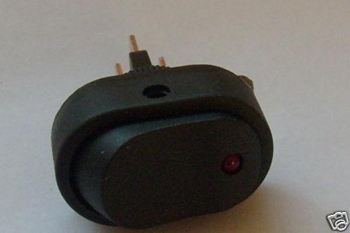 Éclairé par DEL On//Off Rocker Switch 12 V DC 20 A SPST Rouge