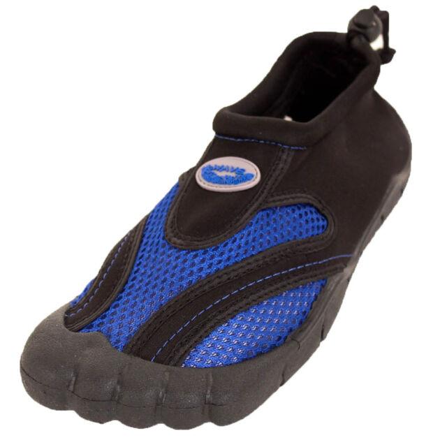 0f2862dc1 Mens Toe Slide Waterproof Shoes Aqua Socks Slip on Mesh Pool Beach ...