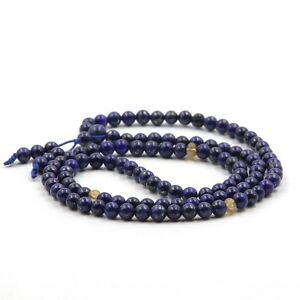 6mm-108-Blue-Lapis-Lazuli-Gemstone-Bracelet-Tibet-Buddhist-Prayer-Mala-Necklace