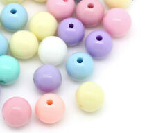 250 Acrylic Mixed Bubblegum Pastel Colour Spacer Beads 6mm Random Colour Mix