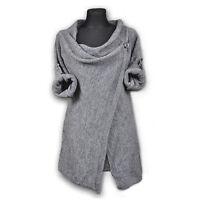 Women Loose Sweater Outwear Long Sleeve Knitted Cardigan Jacket Coat Sweater New