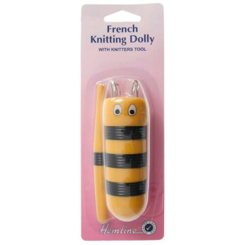 Bee French Knitting Dolly Tool Crochet Knitting Craft Tailor/'s Awl Soft Touch