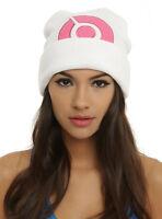 Pokemon Go Diamond & Pearl Dawn Cosplay Pink White Watchman Knit Beanie Hat Cap