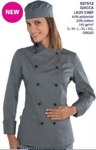 057512 Donna Grigio Italy Giacca Chef In Lady Made Isacco Cuoco Ux1qf