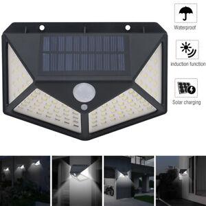Lampada-luce-faretto-faro-esterno-energia-solare-100-LED-sensore-movimento