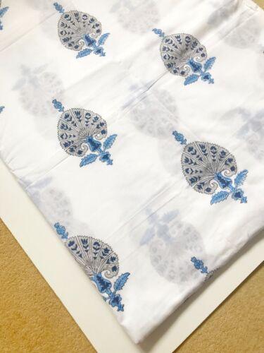 2 Yards Indian Hand Block Print Fabric 100/%Cotton Indigo Dress Material