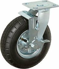 Casterhq 10 X 35 Swivel With Brake Pneumatic Caster 4 Ply 350 Lbs Capacit