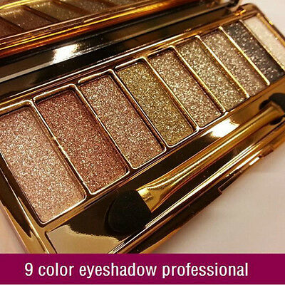9 colors diamond eyeshadow eye shadow Palette & Makeup Cosmetic Brush Set