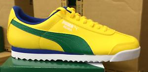 8ea18446dda9ac PUMA Roma Basic Jr GS Kid s Running Casual Shoes Yellow Green 354259 ...