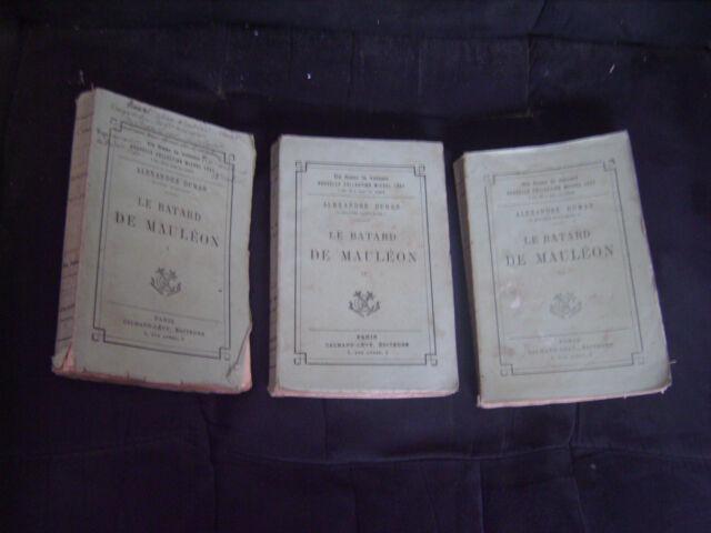 """""""Le Batard de Mauléon"""" A.Dumas - 3 Tomes - Nouvelle Collection Michel Lévy"""