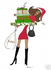 gifts for santa christmas cards african american diva ebay