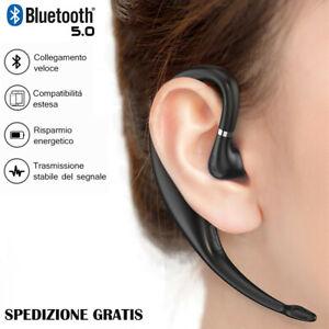 Auricolare Bluetooth Wireless con Microfono Earbud Regolabile per lavoro ufficio