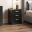thumbnail 59 - Riano Hulio 1 2 3 Bedside Cabinet Chest Wood High Gloss Bedroom Storage Unit