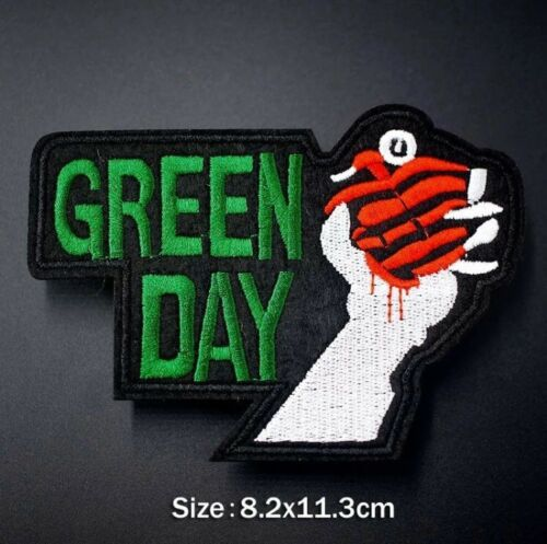 1x Greenday Punk Rock Band Embroidered Iron On Sew On Patch DIY