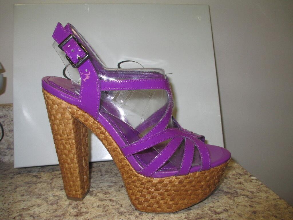 Jessica Simpson Cizal High Heel Platform Sandal Ultra purple Patent New with Box