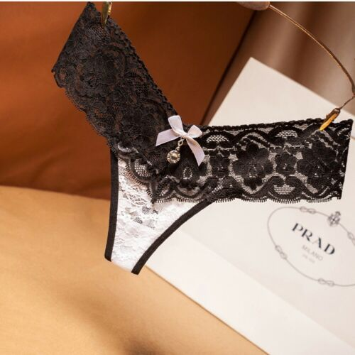 Women Ladies Lace Thongs G-string V-string Panties Knickers Lingerie Underwear