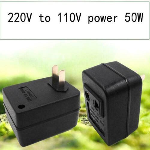 50W Wechselstrom 220V bis 110V Spannung für Reisewandleradapter neu Q1G1