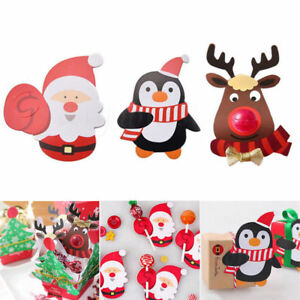 25-50pcs-Christmas-Lollipop-Sticks-Paper-Candy-Chocolate-Cak-Xmas-Decor-Gift