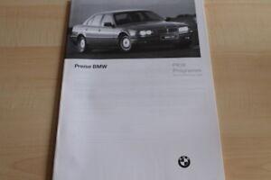 Bmw 3er 5er 7er 8er M3 Prospekt 03/1996 Bequem Und Einfach Zu Tragen Preise & Extras Intelligent 110926