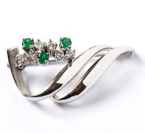 Broschen & Anstecknadeln Uhren & Schmuck 585 Gold Angemessen Brillantbrosche Mit Diamanten Diamonds Brooch In Aus 14 Kt