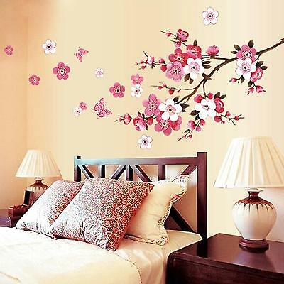 Peach Blossom Removable Flower Wall Sticker Decal Mural Art Home Room Decoration