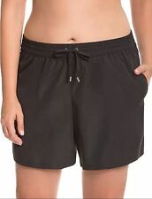 Black 14 16W 1X Lane Bryant Plus SWIM SHORT Bikini Tankini Swimsuit Bottom