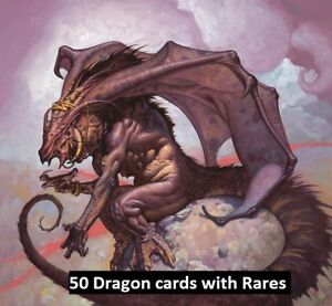 50-Dragon-Lot-with-10-Rares-Collection-EDH-Magic-the-Gathering-MTG-FTG