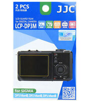 Jjc Lcp-dp3m Polycarbonate Lcd Film Screen Protector For Sigma Dp3 Dp2 Dp1 2 Pak