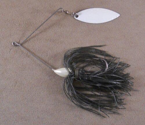 Bass Fishing Lure DR Custom Spinnerbait 1//4 oz 1 Hammered White Willowleaf Blade