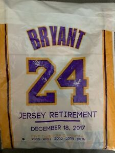 Details about LAKERS SGA KOBE BRYANT RETIREMENT JERSEY 12/18/17 #8 STILL SEALED
