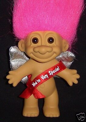 """VALENTINE YOU/'RE VERY SPECIAL CUPID 5/"""" Russ Troll Doll NEW IN ORIGINAL BAG"""