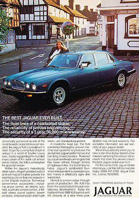 1986 Jaguar XJ6 Classic Vintage Advertisement Ad D24 Best