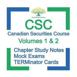 CSC Canadian Securities Course Volumes 1 & 2 Exam Preparation Study Notes Kit 2020 Canada Preview