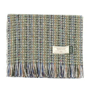 9a12b8009 Men's Irish Muckross Mucros Donegal Wool Tweed Scarf Green dt31 | eBay