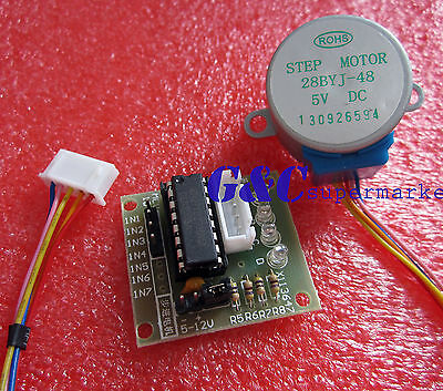 2PCS 5V Stepper Motor with ULN2003 Drive Test Module Board NEW GOOD QUALITY M19