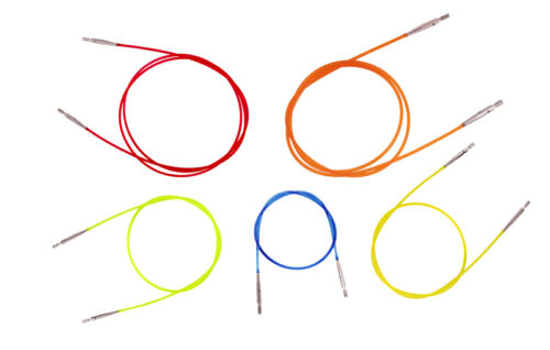 """Knitter/'s Pride Colored Interchangeable Needle Cord 16/"""" 20/"""" 24/"""" 32/"""" 40/"""""""