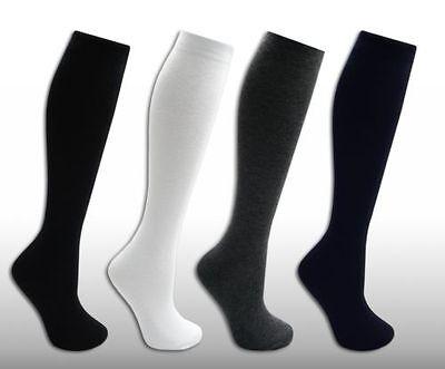 6 Girls Knee High LYCRA® Cotton Rich Longer Length School Socks All Sizes