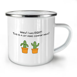 Funny Cactus NEW Enamel Tea Mug 10 oz | Wellcoda